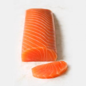 Cœur de saumon fumé d'élevage norvégien